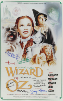 """""""The Wizard of Oz"""" 15.5x24 Movie Poster Cast-Signed by (8) with Karl Slover, Clarence Swenson, Margaret Pellirini, Ruth Duccini, Donna Stewart, Jerry Maren, Meinhardt Robbie, Mickey Carroll With Multiple Inscriptions (JSA COA) at PristineAuction.com"""