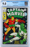 "1969 ""Captain Marvel"" Issue #14 Marvel Comic Book (CGC 9.0) at PristineAuction.com"