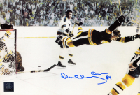 "Bobby Orr Signed Bruins ""The Flying Goal"" 7x11 Photo (Orr COA) (See Description) at PristineAuction.com"