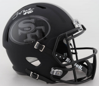 Jerry Rice Signed 49ers Full-Size Matte Black Speed Helmet (Beckett COA) at PristineAuction.com