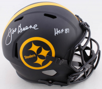 "Joe Greene Signed Steelers Full-Size Eclipse Alternate Speed Helmet Inscribed ""HOF 87"" (Beckett COA) at PristineAuction.com"