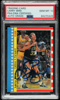 Larry Bird Signed 1987-88 Fleer Stickers #4 (PSA Encapsulated) at PristineAuction.com