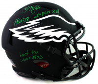 "Brian Dawkins Signed Eagles Full-Size Authentic On-Field Eclipse Alternate Speed Helmet Inscribed ""HOF 18"", ""Weapon X!!"", & ""Last To Wear #20"" (JSA COA) at PristineAuction.com"
