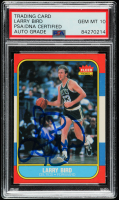 Larry Bird Signed 1986-87 Fleer #9 (PSA Encapsulated) at PristineAuction.com