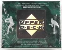 Complete Set of (54) 1992 Upper Deck Major League Baseball Team MVP Holographic Baseball Cards at PristineAuction.com