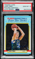 Larry Bird Signed 1988-89 Fleer Stickers #2 (PSA Encapsulated) at PristineAuction.com