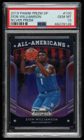Zion Williamson 2019-20 Panini Prizm Draft Picks Prizms Silver #100 AA RC (PSA 10) at PristineAuction.com