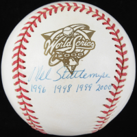 Mel Stottlemyre Signed 2000 World Series Baseball with (4) Career Stat Inscriptions (PSA COA) at PristineAuction.com