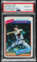Nolan Ryan Signed  1980 Topps #580 with Multiple Inscriptions (PSA Encapsulated) at PristineAuction.com