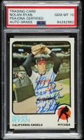 Nolan Ryan Signed 1973 Topps #220 with Multiple Inscriptions (PSA Encapsulated) at PristineAuction.com