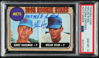 "Nolan Ryan Signed 1968 Topps #177 Rookie Stars RC Inscribed ""100.7 M.P.H. Fastball"" (PSA Encapsulated) at PristineAuction.com"
