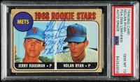 Nolan Ryan Signed Jerry Koosman / Nolan Ryan 1968 Topps #177 Rookie Stars RC with Multiple Inscriptions (PSA Encapsulated) at PristineAuction.com