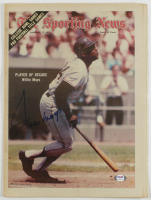 "Willie Mays Signed Vintage 11.5x15.5 ""The Sporting News"" Newspaper (PSA COA) at PristineAuction.com"