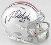 Justin Fields Signed Ohio State Buckeyes Speed Mini Helmet (JSA COA) at PristineAuction.com