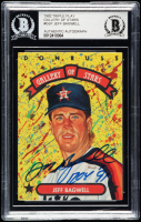 """Jeff Bagwell Signed 1992 Triple Play Gallery #GS7 Inscribed """"ROY '91"""" (BGS Encapsulated) at PristineAuction.com"""