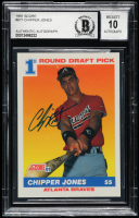 Chipper Jones Signed 1991 Score #671 RC (BGS Encapsulated) at PristineAuction.com