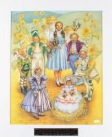 """""""The Wizard of Oz"""" 20x24 Matted Photo Display Cast-Signed by (6) with Ruth Duccini, Karl Slover, Mickey Carroll, Jerry Maren, Margaret Pelligrini & Donna Stewart-Hardway Inscribed """"Munchkin Love"""" (JSA COA) at PristineAuction.com"""