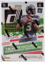 2020 Donruss Holiday Winter Football Blaster Box with (11) Packs at PristineAuction.com