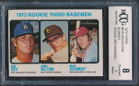 Ron Cey / John Hilton RC / Mike Schmidt RC 1973 Topps #615 Rookie Third Basemen (BCCG 8) at PristineAuction.com