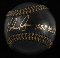 "Nolan Ryan Signed OML Black Leather Baseball Inscribed ""100.7 M.P.H. Fastball"" (PSA COA) at PristineAuction.com"