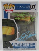 "Steve Downes & Jen Taylor Signed ""Halo"" #7 Master Chief with Cortana Funko Pop! Vinyl Figure Inscribed ""Master Chief 117"" & ""Cortana"" (Radtke COA) at PristineAuction.com"