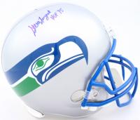 "Steve Largent Signed Seahawks Full-Size Throwback Helmet Inscribed ""HOF '95"" (Schwartz Sports COA) at PristineAuction.com"