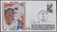 Hank Aaron Signed Atlanta Braves 1982 FDC Envelope (JSA ALOA) at PristineAuction.com