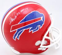 "Andre Reed Signed Bills Full-Size Throwback Helmet Inscribed ""HOF 14"" (Schwartz Sports COA) at PristineAuction.com"