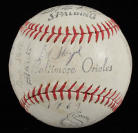 """Orioles Logo Baseball Team-Signed by (24) With Earl Weaver, Frank Robinson, Brooks Robinson, Jim Palmer Inscribed """"1969"""" (PSA LOA) at PristineAuction.com"""