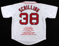 Curt Schilling Signed Career Highlight Stat Jersey (JSA COA) at PristineAuction.com
