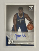 Zion Williamson 2019-20 Clearly Donruss Auto Rated Rookie Variation at PristineAuction.com