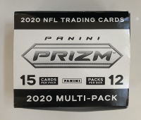 2020 NFL Prizm Football Cello Box with (12) Packs at PristineAuction.com