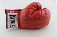 Earnie Shavers Signed Everlast Boxing Glove with Extensive Inscription Referencing Muhammad Ali (Shavers Hologram & Beckett Hologram) at PristineAuction.com