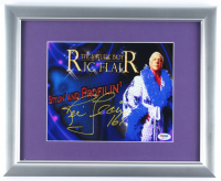 "Ric Flair Signed 13x16 Custom Framed Photo Display Inscribed ""16x"" (PSA COA) at PristineAuction.com"