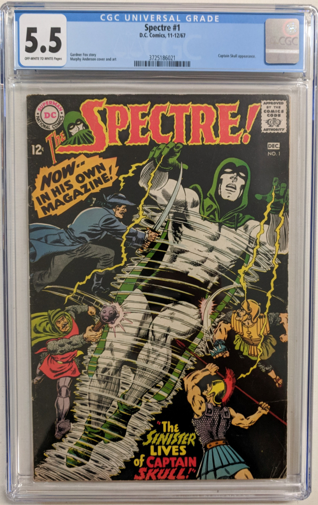"""1967 """"The Spectre"""" Issue #1 DC Comic Book (CGC 5.5) at PristineAuction.com"""