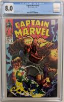 "1968 ""Captain Marvel"" Issue #6 Marvel Comic Book (CGC 8.0) at PristineAuction.com"