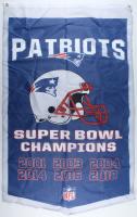 Patriots Super Bowl Champions 35.5x58.5 Banner at PristineAuction.com