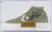 Larry Bird Signed Converse Shoe with Display Case (PSA COA) at PristineAuction.com