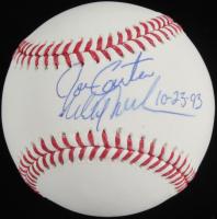 "Mitch Williams & Joe Carter Signed OML Baseball Inscribed ""10-23-93"" (JSA COA) at PristineAuction.com"