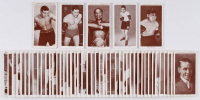 1938 Churchman's Boxing Cards Complete Set (50) with Jack Johnson, Joe Louis, Jack Demsey, Gene Tunney, James Braddock at PristineAuction.com
