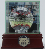 New York Yankees Final Game At Old Yankee Stadium Baseball With Old Yankee Stadium Display Case at PristineAuction.com