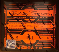 2020 Panini National Treasures Collegiate Football FOTL First Off The Line (4) Box Case at PristineAuction.com