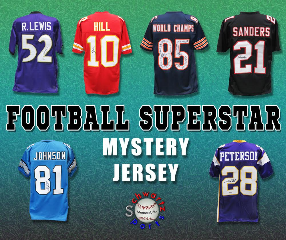 Schwartz Sports Football Superstar Signed Mystery Box Football Jersey - Series 33 - (Limited to 100) at PristineAuction.com