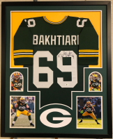 David Bakhtiari Signed 34x42 Custom Framed Jersey (Beckett COA) at PristineAuction.com