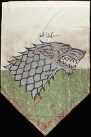 "Kit Harington Signed ""Game of Thrones"" 21.25x41.25 Replica Battle-Worn Stark Banner (Radtke COA) at PristineAuction.com"