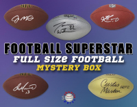 Schwartz Sports Football Superstar Signed Full Size Football - Series 25 (Limited to 100) at PristineAuction.com