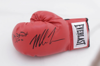 """Mike Tyson & James """"Buster"""" Douglas Signed Everlast Boxing Glove Inscribed """"2-11-90"""" (Schwartz COA) at PristineAuction.com"""