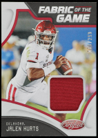 Jalen Hurts 2020 Certified Collegiate Fabric of the Game #18 at PristineAuction.com