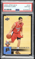 Stephen Curry 2009-10 Upper Deck #234 SP RC (PSA 10) at PristineAuction.com