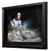 Connor McDavid Signed Oilers 16x24 Custom Framed Acrylic Blade Display (UDA COA) at PristineAuction.com